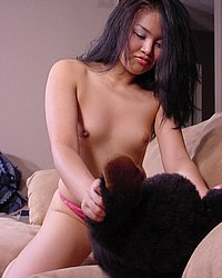 Toy-loving asian twat. Horny exotic slut playing with her twat and toys!. Click here for more photos!