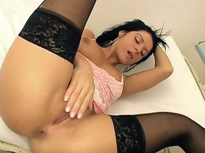 medical sex videos. Tess plays with her clam at clinic & finishes up gettin ...