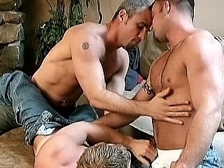 Military Gay Trio Hot Banging