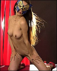 Exotic haired honeypot exposed. Exotic butterfly babe masking her pretty face while baring her hair-cushioned cunt!. Download the free photos now!
