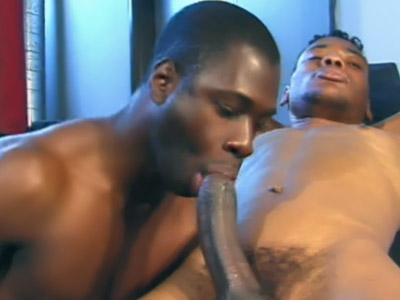 Gay Ebony Studs : chocolate Gays Oral in the Gym!