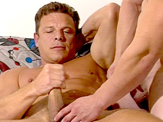 Gay Big Dick : Muscled Chance Stoking His Shaft!