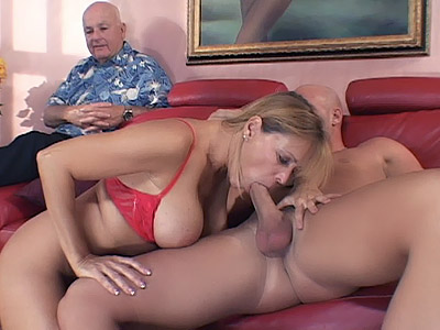 Watch My Wife : older wfie Rides dick!