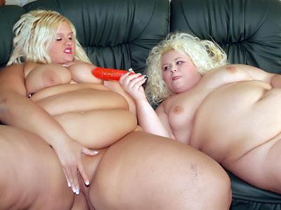 BBW Tits : vibrator Drilling Chubby Blondies!