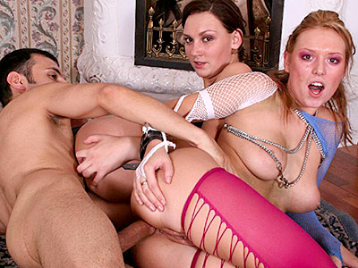 Assed nailing threesome. Two girls nailed massive from behind. Click here for more pictures.