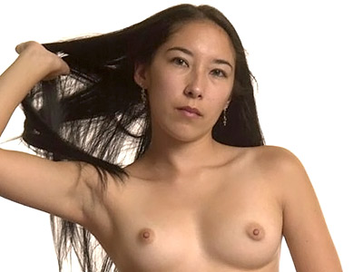 Naked asian hottie. Long hairy asian babe stripping down for bed. Want more Click here now!