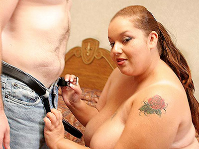 Creamed libidinous fatty. BBW getting a warm ejaculate facial. Download the free photos now!
