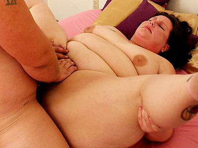 Bbw cunt pounding.   Hot BBW gets her fat twat nailed. Check out for more high-res photos of this gallery!