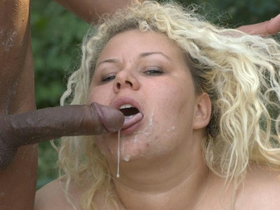 Interracial bbw banging. Nasty blonde BBW going all out with a black hunk to enjoy raw pussy pounding from a black prick. Click here for the gallery.