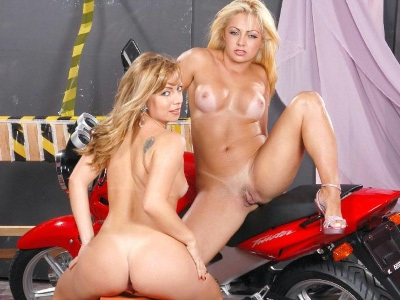 Latina alessandra sapphic loving.   Latina babe Alessandra and her blonde friend make out on top of a red bike. Click here for more photos!