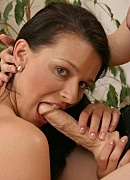 Strap on penish cock sucking. Lesbian brunette suc on a strapon cock. Click here to see the photos.