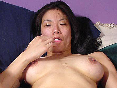 Sexy asian pussy rubbing. Asian model totally naked in bed and spreads her lascivious thighs to play with her moist muff. Check it out for more preview pictures!