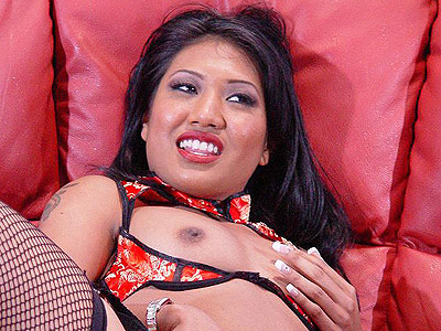 Horny asian masturbating. Exotic Asian model spreading her cunt on the couch and playing with her small yet sexy tits. Check out for more high-res photos of this gallery!