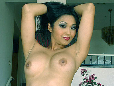 Considerable tits asian tease. Elegant Asian get rid of her pink corset to unleash her large bouncy boobies and rub her haired muff. Craving for more Enter here!