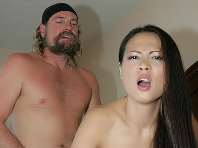 Hot asian rides penish. Nyomi Zen is a pretty Asian with small natural titties grinding her cunt on top of a raging cock. Click here to view this gallery.