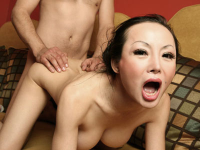 Exciting asian anus pounded. Appealing Asian with perky breasts Angie Venus gulps down a tool and gets her tight butthole pounded. Click here for more pictures.