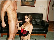 Asian vagina humped. Asian babe Veronica Lynn in libidinous stockings and corset fucked and milking a big fat cock dry. Click here to see the photos.