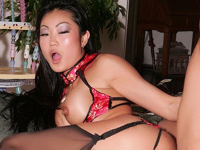 Naughty asian striptease. Lucy Lee in her lascivious traditional Asian clothes doing a little show and dishing out her pussy. Click here for more photos!