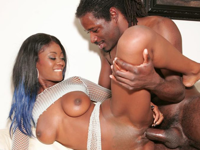 Black Cuties : Black pornstar Rides sex stick!