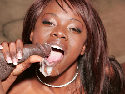 Pleasant ebony drains a cock. Pint sized black beauty Ashley Brooks bounces on a considerable dick and drains it with her mouth. Click here to see the photos.