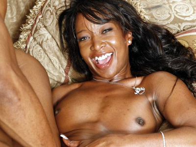 Black Cuties : Ebony Fucking large love stick!