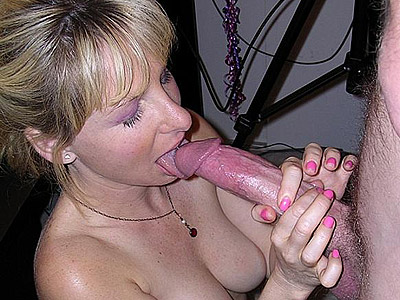 Considerable cock slurping. Blonde swallowing a large cock and taking a huge amount of fresh cumshot all over her boobs. Check it out for more preview pictures!