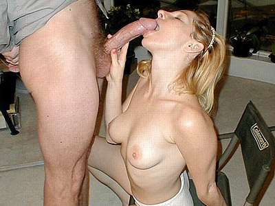 Great penish give suck. Sassy blonde topless and loving every moment of it while a huge cock hosed her with cum. Click here for more photos!