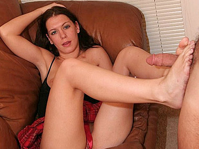 Foot make love pornstar. Hot pornstar doing a little show and exposing her hot bottom before she gives off a hot foot job. Click here to view this gallery.
