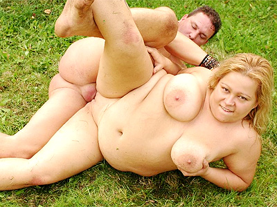 Outdoor bbw banging. Blonde BBW Helga enjoys outdoor cunt filling and ejaculate glazing from a excited tattooed hunk. Click here to view this gallery.