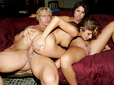 Hot butt threesome tease.   Eva Angelina and Sativa Rose start off a threesome scene by showing off and bouncing their asses. Click here to see the photos.