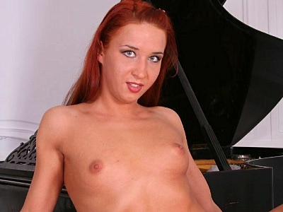Lascivious hd striptease. Sweet redhead with a charming rear posing in front of the camera and does a exciting striptease. Check it out for more preview pictures!