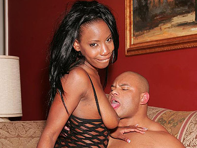 Dick riding black extacy. Ebony chick Extacy triesto swallow a monster black cock and ends up riding it instead. Click here for more pictures.