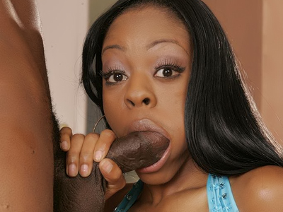 Black cutie have sex madly. Black cutie Lil' Baby stuffs her mouth with a big black penish and gets to ride it with her pussy. Want more Click here now!