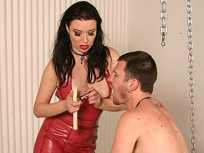 Dominatrix anastasia dominates slave. Excited and heavy dominatrix Anastasia Pierce punishes her malesub wit hot wax dripping. Download the free photos now!