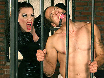 Dominatrix anastasia duct tape binding. Excited femdom Anastasia Pierce punishes her male servient partner with painful duck tape bondage. Click here for the gallery.