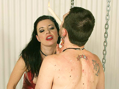 Lascivious anastasia pierce bdsm punishment. Dominatrix Anastasia Pierce clad in lustful red vinyls punished her malesub with hot wax dripping. Click here to view this gallery.