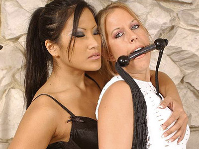 Horny christina lesbian domination. Exciting femdom Christina Aguchi punishes her female servile partner with her whip. Click here for more pictures.
