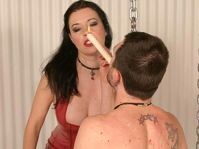 BDSM Library : Anastasia Hot Wax Torture!