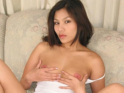 Haired asian striptease. Naughty Asian model does a striptease to show off her large boobs and toy have intercourse her hairy muff. Download the free photos now!