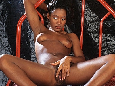 Hairy ebony kitty spreading. Hot solo clip of a charming ebony model totally naked and spreading her hairy cunt lips. Click here for the gallery.