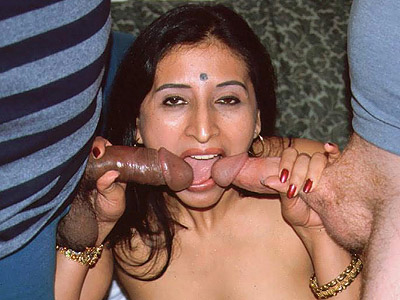 Lovely indian threesome sex. Pleasant Indian model Gupet strips off her clothes and take cock cramming from both ends. Click here to view this gallery.