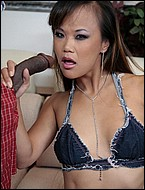 Asian chick does interracial. Naughty Asian Mia Smiles stuffs her mouth with a great black penish and got fuck like crazy. Click here for more photos!