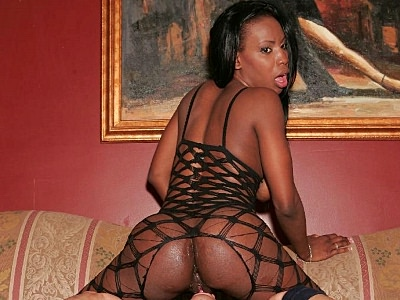 Large cock bottomed ebony. Naughty ebony guzzles down a huge black penish before she gets the courage to take it up her ass. Click here to see the photos.