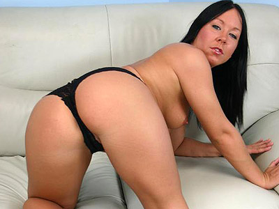 Lacy black panty julie. Brunette chick Julie squats down to show off her round ass in a lacy black panty. Check out for more high-res photos of this gallery!
