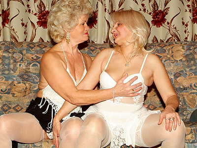 Chunky matures striptease. Hot older ladies Francesca and Erlene putting up a great show and stripping off for the camera. Click here for more photos!
