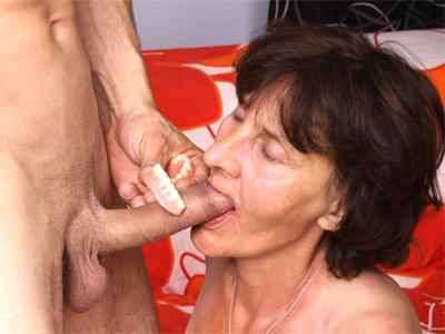 Excited older stephanie. Horny older woman with flabby ass and tits Stephanie jumps on top of a young stud to ride his dick. Click here for more photos!