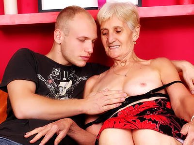 Busty elderly irene striptease. Naughty elderly pornstar Irene shows off her sagged tits to lure a guy into lending her his dick. Want more Click here now!