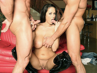 Hardcore penish blow. Busty babe Carmella Bing penish give suck and gets her cunt plowed by two excited studs in this hardcore porn set. Check it out for more preview pictures!