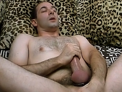 Gay bear rubbing cock